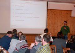 Projektlandwirt Anton Wörmann beschreibt RAST-Projekt